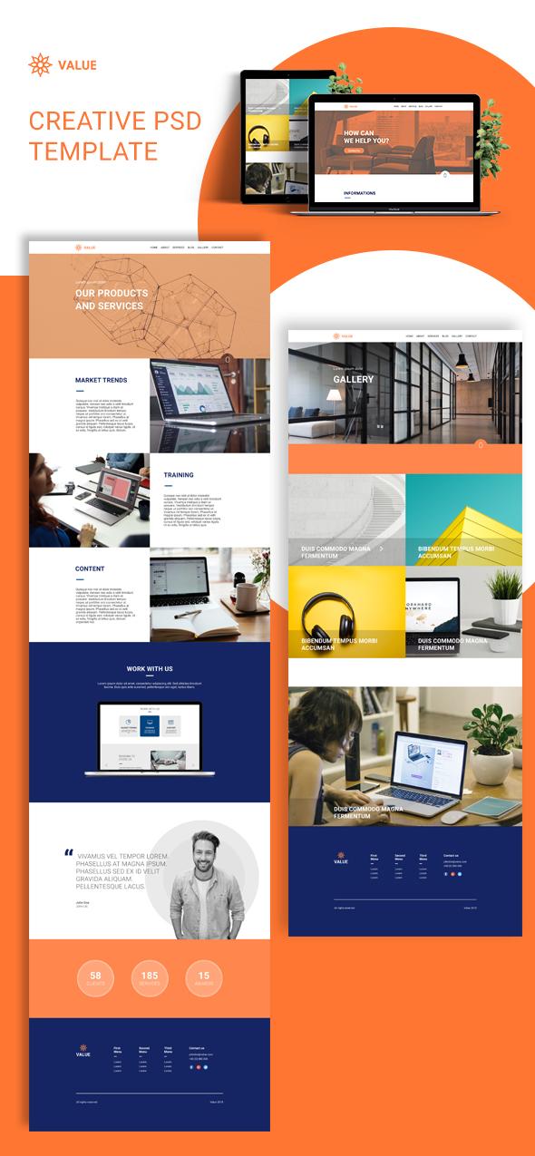Value - Creative Corporate PSD Template - 1